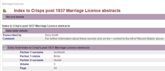 1837 marriages 1